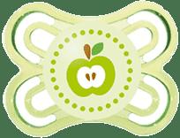 MAM Smoczek PERFECT 0-6mies.+ , silikon – zielony - losowy motyw