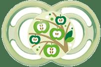 MAM Smoczek PERFECT 6mies.+ , silikon – zielony - losowy motyw
