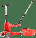 MICRO Mini2go Deluxe Plus Jeździk-Hulajnoga – czerwony