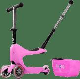 MICRO Mini2go Deluxe Plus Jeździk-Hulajnoga – różowy