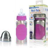 PACIFIC BABY Hot-Tot Termobutelka 200 ml – różowa/srebrna