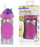 PACIFIC BABY GroGrow Nerezová ekololáhev s brčkem 380 ml růžová