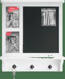 FOTO věšák na klíče s tabulí Chalkboard pro 2 fotografie 10x15 cm