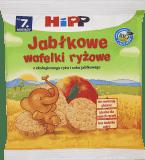 HIPP Jabłkowe wafelki ryżowe BIO 30g