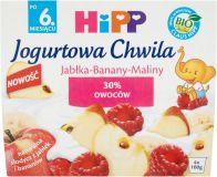 HIPP BIO Jogurtowa Chwila Jabłka-Banany-Maliny (6m+) 400 g