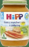HIPP Krem z marchwi i ryżu z cielęciną BIO (190g)