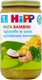 HIPP BIO Pasta Bambini Tagliatelle w sosie szpinakowo-serowym (11m+) 250 g