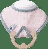 LULLALOVE SupeRRO Baby Eco – bryndák a kousátko 2v1, růžová