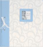 FOTOALBUM niebieski BABY Traditional – album z wklejanymi rogami