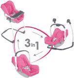 SMOBY 3w1 Fotelik samochodowy i krzesełko Maxi Cosi dla lalek