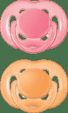 AVENT Smoczek uspokajający sensitive, silikonowy, 6-18 m – pomarańczowy, różowy