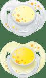 AVENT Smoczek nocny 2 szt. (silikon) 0-6m żółty