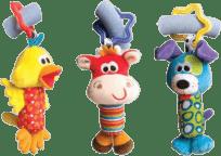 Playgro Zabawki – zawieszki do podróży 3 sztuki