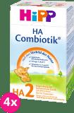 4x HIPP HA 2 Combiotik (500 g) – hypoalergénne dojčenské mlieko