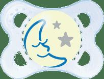 MAM Night upokojujúci cumlík 0-6 mesiacov chlapec - náhodný motív