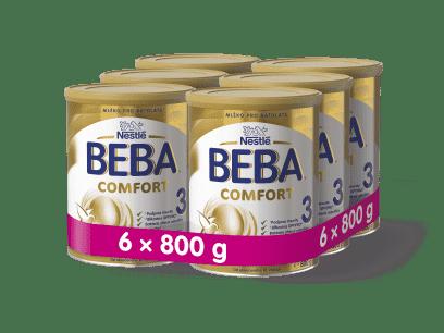 fe6c8368d 6x BEBA Comfort 3 (800 g) – dojčenské mlieko