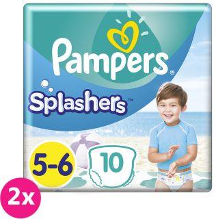 f2a9d89c2 2x PAMPERS Pants Splashers Carry Pack veľ. 5-6 (14+ kg), 10 ks -  jednorazové plienky do vody