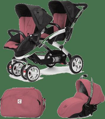CASUALPLAY Set kočík pre dvojičky Stwinner, 2 x autosedačka Sono a Bag 2015 - Boreal