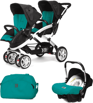 CASUALPLAY Set kočík pre dvojičky Stwinner, 2 x autosedačka Baby 0plus a Bag 2015 - Allports