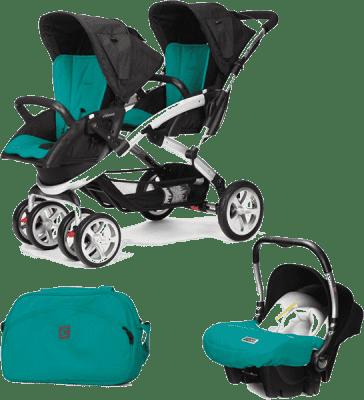 CASUALPLAY Zestaw Wózek dla bliźniąt Stwinner, 2x Fotelik samochodowy Baby 0plus i Torba 2015 - Allp