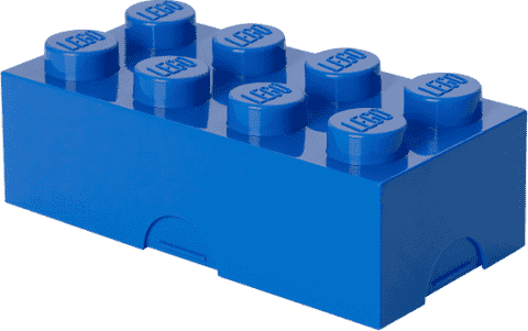 LEGO® Box na desiatu, modrá