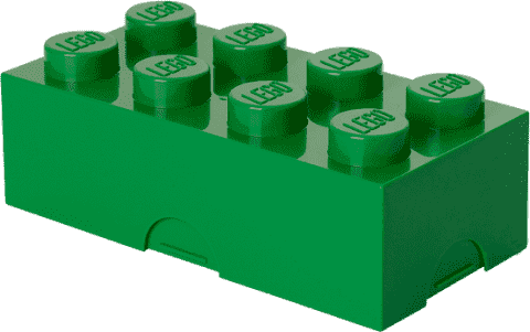 LEGO® Box na desiatu, tmavo zelená