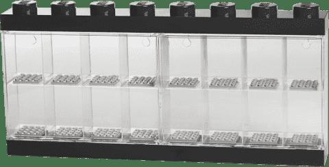 LEGO® Zberateľská skříňka na 16 minifigúriek, čierna