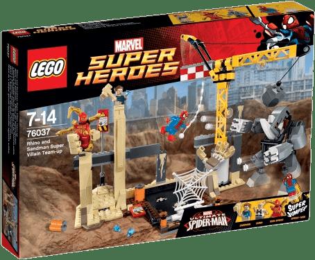 LEGO® Super Heroes Wspólny atak superłotrów Rhino i Sandmana