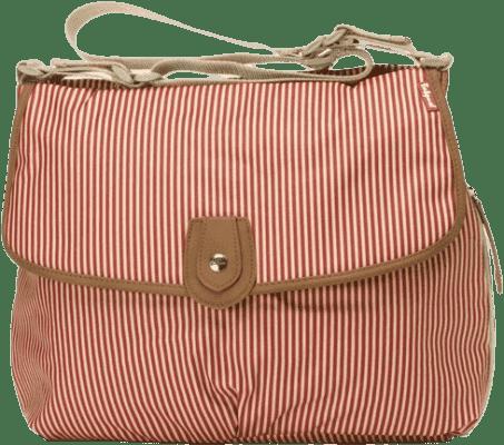 BABYMEL Prebaľovacia taška Satchel červený pásik