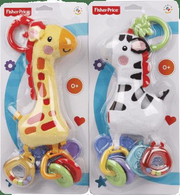 FISHER-PRICE Kolekce plyšových klapajících zvířátek – Zebra