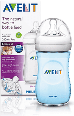 AVENT Láhev 260 ml Natural 1m+, PP -  modrá