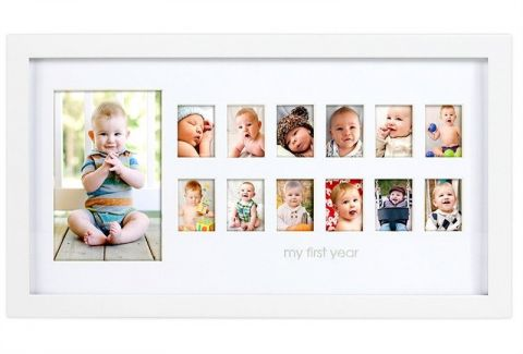 PEARHEAD Fotorámeček První rok života, bílý