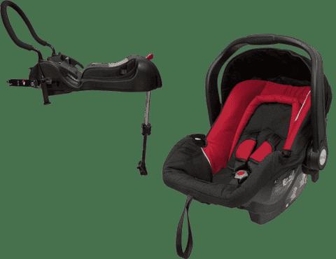AXKID Baby Fix autosedačka 0 - 13kg Red + Baby Fix základňa (ISOFIX / Pás) Black
