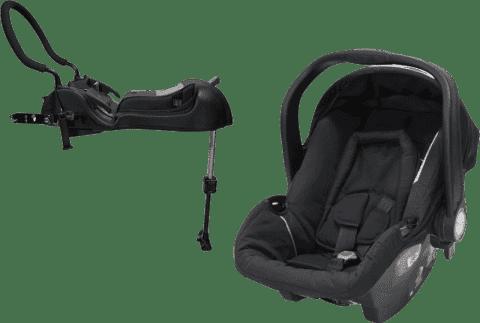 AXKID Babyfix autosedačka 0 - 13 kg Black + Babyfix základna (ISOFIX/Pás) Black