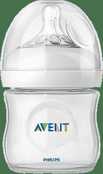 AVENT Dojčenská fľaša Natural 125 ml (PP), 1 ks, biela