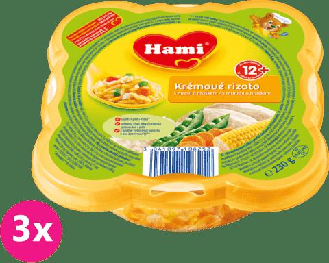 3x HAMI Malý Gurmán: Krémové rizoto s mrkvou a hráškom 230 g