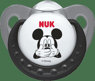 NUK Dudlík Trendline Mickey, silikon, ortodontický, velikost 1 (0-6 m) – šedý