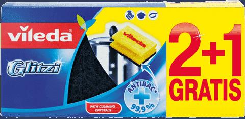 VILEDA Glitzi houbička (2+1 ks)