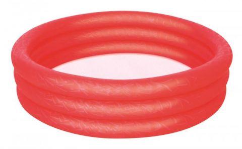 BESTWAY Bazén nafukovací červený, 122 cm x 25 cm