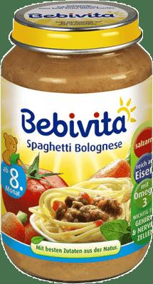 BEBIVITA Boloňské špagety (220 g) - mäsovo-zeleninový príkrm