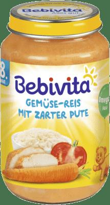 BEBIVITA Zelenina - rýže s krůtím masem (220g) - masozeleninový příkrm