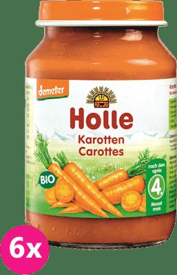 6x HOLLE Bio Mrkva, 190 g - zeleninový príkrm