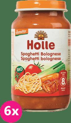 6x HOLLE Bio Spaghetti Bolognese,  220 g - mäsovo-zeleninový príkrm