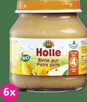 6x HOLLE Bio 100% Hruška, 125 g - ovocný príkrm