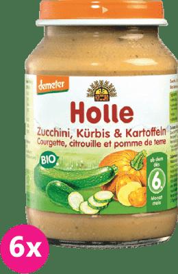 6x HOLLE Bio Cuketa a tekvica so zemiakmi, 190 g - zeleninový príkrm