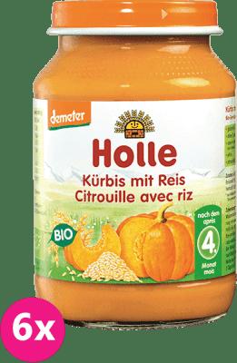 6x HOLLE Bio Tekvica s ryžou, 190 g - zeleninový príkrm