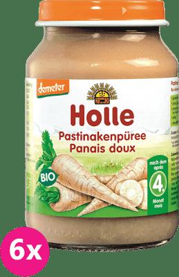 6x HOLLE Bio Paštrnákové pyré, 190 g - zeleninový príkrm