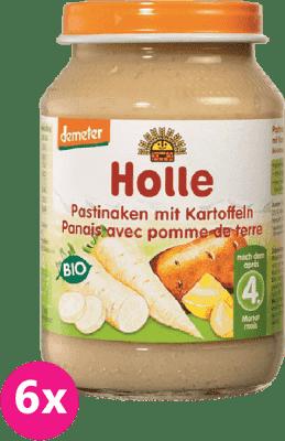 6x HOLLE Bio Paštrnák so zemiakmi, 190 g - zeleninový príkrm
