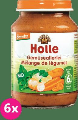 6x HOLLE Bio Zeleninová směs - zeleninový příkrm, 190 g