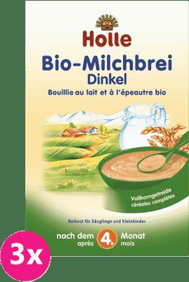 3x HOLLE Bio Špaldová mliečna kaša, 250 g